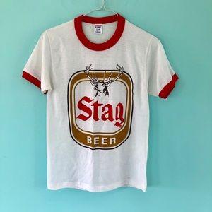 Vintage Stag Ringer T-shirt